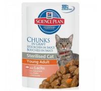 Hills Science Plan Feline Sterilised Cat Young Adult с лососем Пауч для стерилизованных кошек до 6 лет (Хиллс). Вес: 85 г