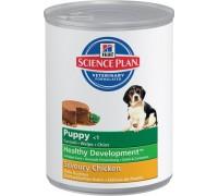 Hills Science Plan Puppy Savoury Chicken консервы для щенков до 12 месяцев (Хиллс). Вес: 370 г
