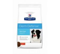 Hills Presсription Diet Derm Defense Canine с Курицей (17%) - полноценный диетический рацион для поддержания функции кожи при дерматитах или избыточной потери шерсти у взрослых собак (Хиллс). Вес: 2 кг