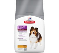 Hills Science Plan Sensitive Stomach & Skin корм для взрослых собак для здоровья ЖКТ (Хиллс). Вес: 12 кг