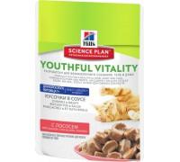 Hills Science Plan Youthful Vitality аппетитные кусочки в соусе для кошек старше 7 лет пауч ЛОСОСЬ (Хиллс). Вес: 85 г