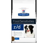 Hills Presсription Diet Canine z/d сухой корм для собак лечение и диагностика пищевых аллергий (Хиллс). Вес: 3 кг