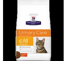 Hills Presсription Diet c/d Multicare Feline Курица сухой корм для кошек C/D профилактика МКБ (Хиллс). Вес: 400 г