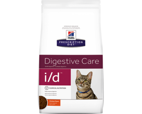 Hills Presсription Diet i/d сухой корм для кошек I/D лечение заболеваний ЖКТ (Хиллс). Вес: 400 г