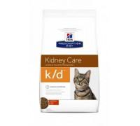 Hills Presсription Diet k/d Feline Original сухой корм для кошек K/D лечение заболеваний почек, МКБ (оксалаты, ураты) (Хиллс). Вес: 400 г