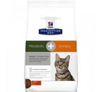 Hills Presсription Diet Metabolic+Urinary сухой корм для кошек для растворения струвитов и лечения ожирения (Хиллс). Вес: 250 г