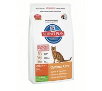 Hills Science Plan Feline Adult Optimal Care с Кроликом сухой корм для кошек Кролик (Хиллс). Вес: 400 г