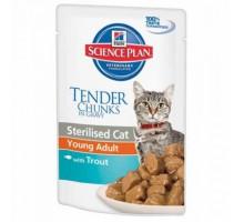Hills Science Plan Feline Young Adult Sterilised TROUT Пауч для стерилизованных кошек от 6 мес до 6 лет (Форель) (Хиллс). Вес: 85 г