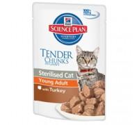 Hills Science Plan Feline Young Adult Sterilised Turkey Пауч для стерилизованных кошек от 6 мес до 6 лет (Индейка) (Хиллс). Вес: 85 г