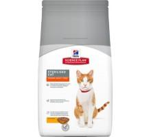 Hills Science Plan Sterilised Cat сухой корм корм для стерилизованных молодых кошек от 6 месяцев до 6 лет Курица (Хиллс). Вес: 300 г