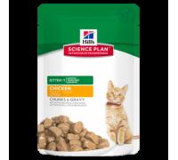 Hill's Science Plan Healthy Development Kitten Пауч для котят в соусе - 2шт Курица/2шт Индейка