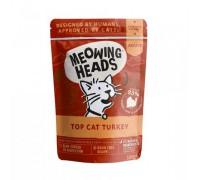 """Barking Heads Пауч для кошек и котят с индейкой, говядиной и курицей """"Аппетитная индейка"""" (Top Cat Turkey). Вес: 100 г"""