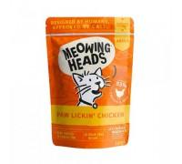 """Barking Heads Пауч для кошек и котят с курицей и говядиной """"Куриное наслаждение"""" (Paw Lickin Chicken). Вес: 100 г"""