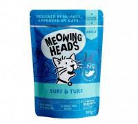 """Barking Heads Пауч для кошек и котят с сардинами, тунцом, курицей и говядиной """"Все лучшее сразу"""" (SUPURRR SURF & TURF). Вес: 100 г"""