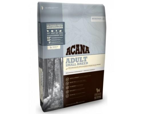 ACANA HERITAGE 60/40 ADULT SMALL BREED корм для взрослых собак Мелких пород (Акана ЭДАЛТ СМОЛ БРИД). Вес: 340 г