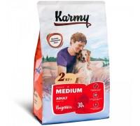 KARMY сухой корм Медиум Эдалт для собак средних пород Индейка. Вес: 2 кг
