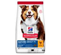 Hills Science Plan Canine Mature Adult 7+ корм для собак средних пород старше 7 лет Курица (Хиллс). Вес: 12 кг