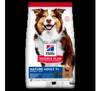Hills Science Plan Canine Mature Adult 7+ корм для собак средних пород старше 7 лет Ягненок/Рис (Хиллс). Вес: 2,5 кг