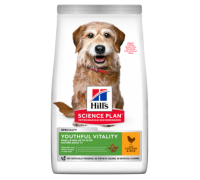 Hills Science Plan Canine Youthful Vitality Adult 7+ сухой корм для пожилых собак миниатюрных пород Курица (Хиллс). Вес: 250 г