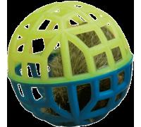 Зооник Погремушка для кошек сетчатая с мехом и колокольчиком