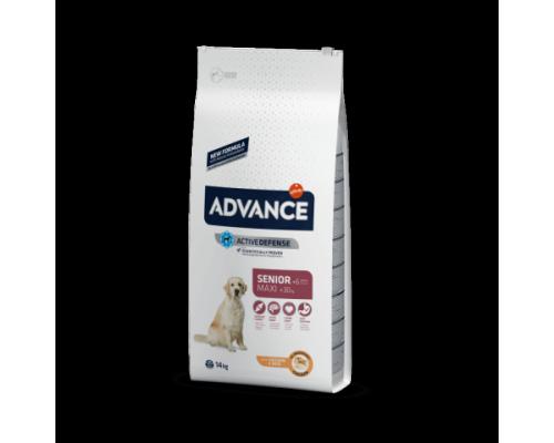 Advance сухой корм Для пожилых собак крупных пород с курицей и рисом (Maxi Senior). Вес: 14 кг
