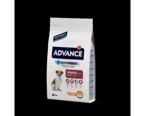 Advance сухой корм Для пожилых собак малых пород с курицей и рисом (Mini Senior). Вес: 800 г