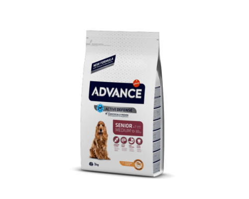 Advance сухой корм Для пожилых собак с курицей и рисом (Medium Senior). Вес: 3 кг