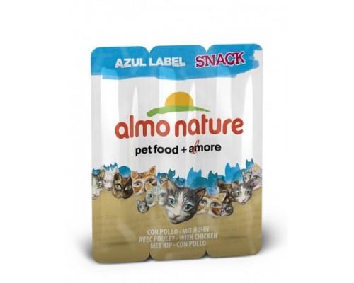 "Almo Nature Колбаски для кошек ""Курица"", 3шт. (Azul Label Snack Cat Chicken). Вес: 15 г"