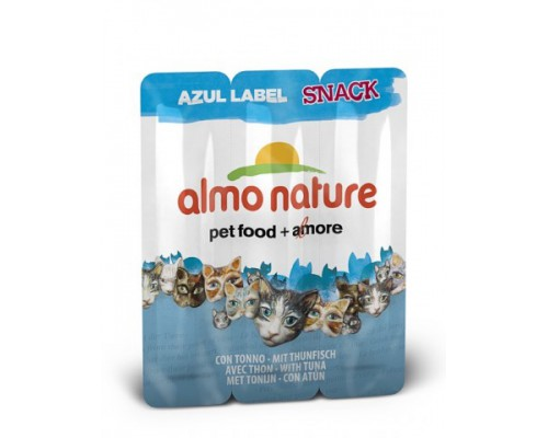 "Almo Nature Колбаски для кошек ""Тунец"", 3шт. (Azul Label Snack Cat Tuna). Вес: 15 г"
