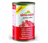 Almo Nature Консервы для Кошек с Курицей и Креветками (Classic Adult Cat Chicken&Shrimps). Вес: 140 г