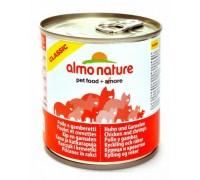 Almo Nature Консервы для Кошек с Курицей и Креветками (Classic Adult Cat Chicken&Shrimps). Вес: 280 г