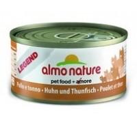 Almo Nature Консервы для Кошек с Курицей и Тунцом 75% мяса (Legend Adult Cat Chicken&Tuna). Вес: 70 г