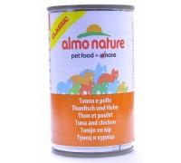 Almo Nature Консервы для Кошек с Курицей и Тунцом (Classic Adult Cat Chicken&Tuna). Вес: 140 г