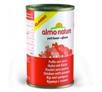 Almo Nature Консервы для Кошек с Курицей и Тыквой (Classic Adult Cat Chicken&Pumpkin). Вес: 140 г