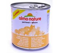 Almo Nature Консервы для кошек с Лососем и Курицей (Classic Adult Cat Salmon&Chicken). Вес: 280 г