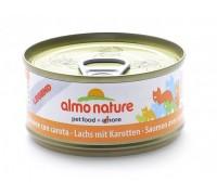 Almo Nature Консервы для Кошек с Лососем и Морковью 75% мяса (Legend Adult Cat Salmon&Carrot). Вес: 70 г