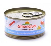 Almo Nature Консервы для Кошек с Морепродуктами 75% мяса (Legend Adult Cat Mixed Seafood). Вес: 70 г