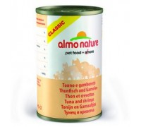 Almo Nature Консервы для Кошек с Тунцом и Креветками (Classic Adult Cat Tuna&Shrimps). Вес: 140 г