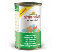 Almo Nature Консервы для Кошек с Тунцом и кукурузой (Classic Tuna with Sweet Corn ). Вес: 140 г