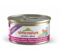 """Almo Nature Консервы нежный мусс для кошек """"Меню с Тунцом и Лососем"""" (Daily Menu mousse Tuna and Salmon). Вес: 85 г"""