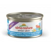 """Almo Nature Консервы нежный мусс для кошек """"Меню с Тунцом и Треской"""" (Daili Menu mousse Tuna and Cod). Вес: 85 г"""