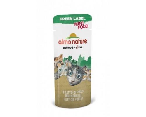 "Almo Nature Лакомство для кошек ""Куриное филе"", 99% мяса (Green Label Mini Food Chicken Fillet). Вес: 3 г"