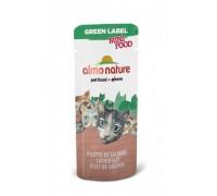 "Almo Nature Лакомство для кошек ""Филе Лосося"", 99% мяса (Green Label Mini Food Salmon Fillet). Вес: 3 г"