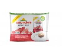 Almo Nature Набор 6 шт.по 55г ПАУЧИ для Кошек с Курицей и Креветками (Classic Adult Cat Chicken&Shrimps)
