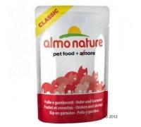 Almo Nature ПАУЧИ для Кошек с Курицей и Креветками (Classic Adult Cat Chicken&Shrimps). Вес: 55 г