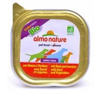 Almo Nature Паштет для Собак с Говядиной и овощами (Bio Pate Beef&Vegetables)