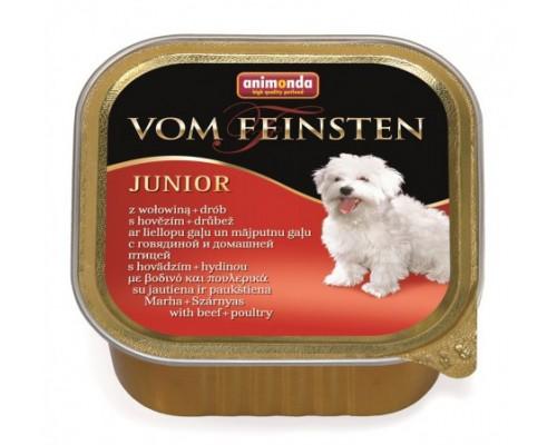 Animonda Консервы  для щенков и юниоров с говядиной и мясом домашней птицы (Vom Feinsten Junior). Вес: 150 г