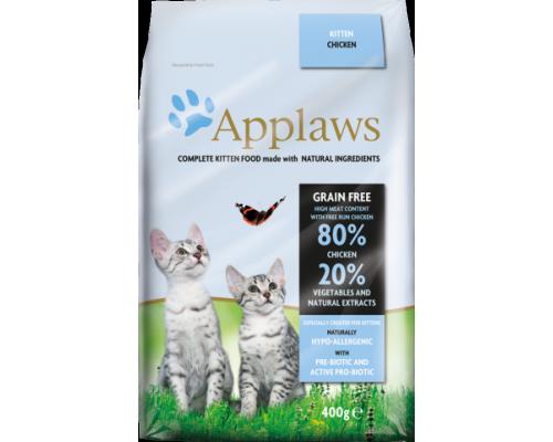 """Applaws Беззерновой для Котят """"Курица/Овощи: 80/20%"""" (Dry Cat Kitten - Chicken). Вес: 400 г"""