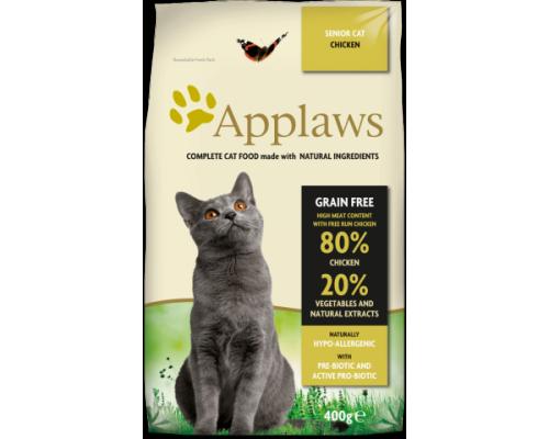 """Applaws Беззерновой для Пожилых кошек """"Курица/Овощи: 80/20%"""" (Dry Cat Senior - Chicken). Вес: 400 г"""