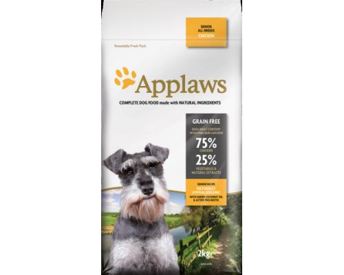 """Applaws Беззерновой для Пожилых собак """"Курица/Овощи: 75/25%"""" (Dry Dog Senior All Breeds Chicken). Вес: 2 кг"""